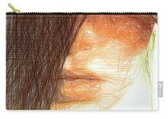 Carry-All Pouch - Studio Portrait In Pencil 215