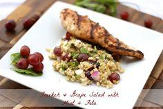 Freekeh & Grape Salad with Mint & Feta | rdinthemidwest.com