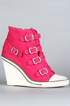 The Thelma Sneaker in Fuxia Canvas by Ash Shoes