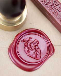 Vintage Heart Wax Seal Kit | Perfect for special nerdy science themed weddings or other occasions
