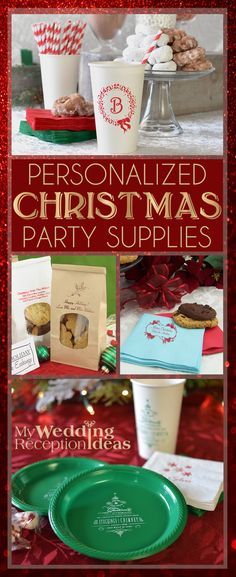 Spend less time cleaning and more time relaxing with family and friends this Christmas. Personalized disposable table decorations including paper cocktail napkins, plastic plates, and paper or plastic cups personalized with a holiday design and up to 4 lines of custom print will add the finishing touch to your Christmas party or dinner. These personalized Christmas party decorations and more can be ordered at http://myweddingreceptionideas.com/holiday_party_favors.asp