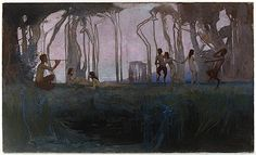 Pan 1898 oil on canvas  107.5 (h) x 178.8 (w) cm  signed 'SID LONG' lower right Art Gallery of New South Wales, Sydney, gift of J.R. McGregor 1943