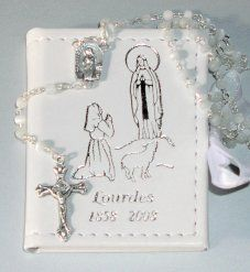 First Holy Communion Rosary Beads.