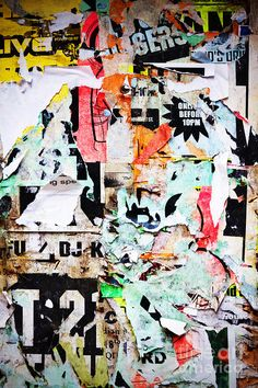 Billboard With Old Torn Posters by Richard Thomas - Billboard With ...