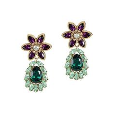 Otazu The Great Pacific Crystal Earrings ($247) ❤ liked on Polyvore featuring jewelry, earrings, crystal earrings, handcrafted jewelry, crystal jewelry, drusy jewelry and swarovski crystal jewellery