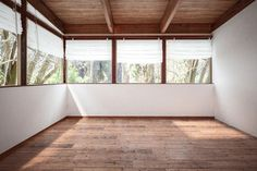 Empty room with panoramic windows
