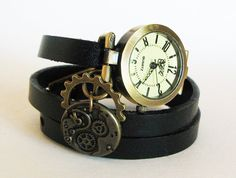 Hey, I found this really awesome Etsy listing at https://www.etsy.com/listing/240026930/woman-steampunk-watch-leather-bracelet
