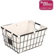 Walmart: Better Homes and Gardens Medium Wire Basket with Chalkboard, Black