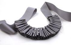 ribbon necklace from maneggi on etsy