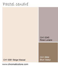 Rêve éveillé : une palette de teintes minérales pour une ambiance féminine et chaleureuse. www.chromaticstore.com #tendances #couleurs #pastel