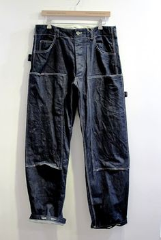 Painter's indigo pants by Engineered Garments. Engineered Garments, Denim Outfit, Work Pants, Work Wear, Cool Outfits, Menswear, Collections, Notes, Mens Fashion
