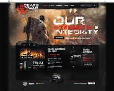 GEARS OF WAR - How to Design a Sick Game Poster-Site by Bobby Ghoshal, via Behance
