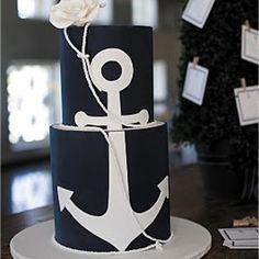Nautical wedding cake.