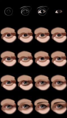 Photoshop Eye Tutorial by jht888.deviantart.com on @deviantART