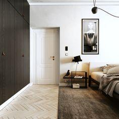 """Popatrz na ten projekt w @Behance: """"black and white interior"""" https://www.behance.net/gallery/58652811/black-and-white-interior"""