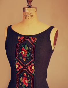Dark Embroidered Ukrainian Dress in Honor of My Babcha and Aunts