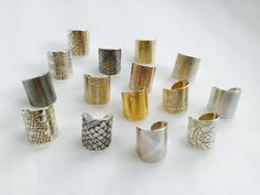 www.joannacampbell.co.nz - cuff rings by Joanna Campbell Contemporary Jewellery, Napkin Rings, Jewelry Making, Jewellery Making, Make Jewelry, Napkin Holders, Diy Jewelry Making