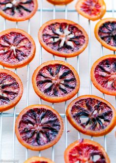 Easy-Candied-Blood-Orange-Slices-Recipe perfect decoration for a cake, salad, or ice cream. @lsl6