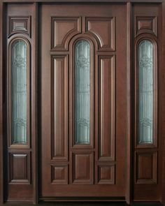 Classic Front Entry Doors in Chicago, IL at Glenview Haus Internal Wooden Doors, Wood Entry Doors, Wood Exterior Door, Main Door Design, Front Door Design, Single Wooden Door Designs, Custom Interior Doors, Classic Doors, Windows And Doors