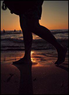 Uno scatto inaspettato, al tramonto sulla spiaggia di Agropoli (Campania, Italy)