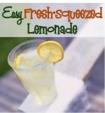 Lemonade Recipe Fresh Squeezed