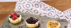 CLINTON KELLY Foolproof Mini Cheesecakes - make a cheesecake bar, have a bunch of different toppings for guests to add