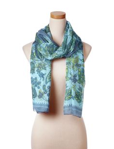 Sneak Peak at Theodora & Callum new Resort 2012-13 Teal Multi Provence Wearable Art Scarf