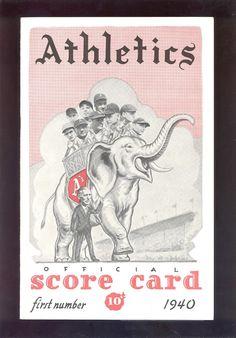 1940 Philadelphia Athletics Scorecard w/Ticket stub Connie Mack on Cover - EX Philadelphia Athletics, Oakland Athletics, Creative Writing Essays, Ticket, Baseball Pictures, Baseball Equipment, Mlb Teams, Cincinnati Reds, Boston Red Sox