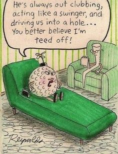 Funny golf cartoon! #golf #funny #cartoons