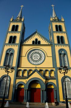 St. Peter and Paul Cathedral, Paramaribo, Suriname, largest all-wood cathedral in the western hemisphere.