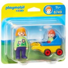 """sophie 1 playmobil 123 """" mama and baby in stroller"""" 5€"""