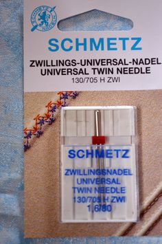 SCHMETZ, twin needles, size 1.6/80, 1 needle per pack, sewing needle by TheQuiltedCheese on Etsy