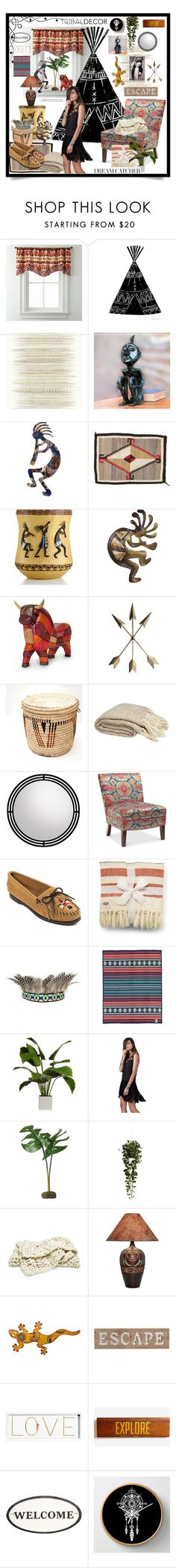 """Tribal Decor:Kokopelli"" by wuteringheights ❤ liked on Polyvore featuring interior, interiors, interior design, home, home decor, interior decorating, Élitis, NOVICA, Avanti and Minnetonka"