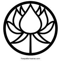 Circle Lotus Flower Symbol Vector Images Designs