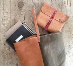 Milled vegetable tanned leather beauties