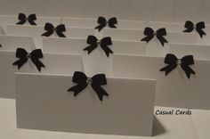 Black Bow Tie Wedding Place Cards Escort Cards. $4.25, via Etsy.