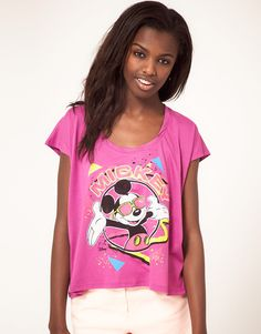Retro 90's Mickey Mouse tee  ASOS  $54  www.junkfoodclothing.com.  she wants this too.....