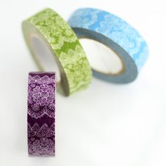 3 options of pretty printed color washi paper masking tape. Great for decorating various items and can be used for scrapbooking or to embellish your gift packaging3 color optionssize: 15mmx15m