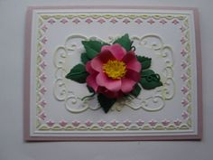 Stampin Up Tulip embossing folder, Punch Bunch Begonia Petals punch for flower and Marianne Design die.