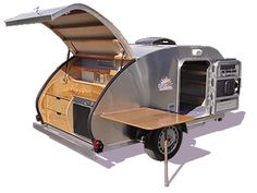 Teardrop Tear Drop Plans Camper Trailer RV Pop-Up Caravan How to Build Your Own in Sporting Goods, Outdoor Sports, Camping & Hiking Tiny Camper, Rv Campers, Camper Trailers, Camper Life, Truck Camper, Little Trailer, Little Campers, Small Campers, Micro Campers