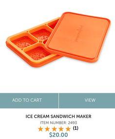 🍨🍨🍨Ice Cream Sandwich Maker🍦🍦🍦 Tiny.cc/amandacooksforyou Pampered Chef, Sandwiches, Ice Cream, Products, No Churn Ice Cream, Icecream Craft, Paninis, Gadget, Ice