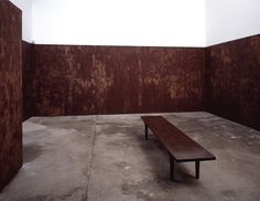 Anya Gallaccio Stroke, 1994 Chocolate and cardboard Dimensions variable Blum & Poe, Santa Monica