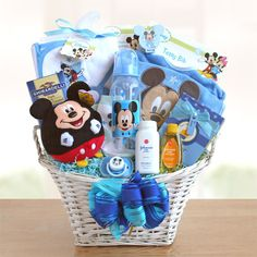 WT Mickey Mouse Basket of Baby Boy Surprises