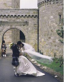 wedding at Borthwick Castle