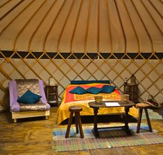 Try staying in a Yurt at Wowo Campsite www.wowo.co.uk