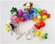 Super Mario Bros Enemy Charm Bracelet Chunky Silver by gatumi, $41.00