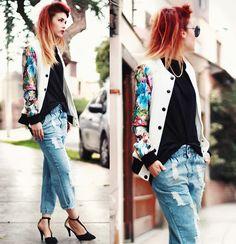 Choies Jacket, Romwe Pants, Sammydress Heels - Contrasting Florals. - Lua P