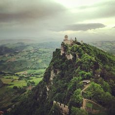 Tower 2 #SanMarino as seen from Tower 1 - Instagram by @n_montemaggi