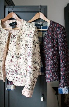 looks like what i learned sew in grade. Boho Fashion, Winter Fashion, Womens Fashion, Fashion Design, London Fashion, Bohemian Mode, Mode Vintage, Quilted Jacket, Mantel