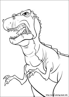 D Is For Dinosaur Coloring Page
